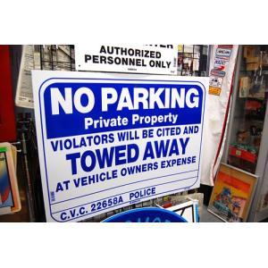 大判プラスチック看板 NO PARKING 駐車禁止 サインボード ガレージ雑貨 アメリカ雑貨 アメリカン雑貨|choppers