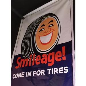 ヨコハマタイヤ Smileage! 大判バナー ノスタルジック 旧車  アメリカ雑貨 アメリカン雑貨 choppers