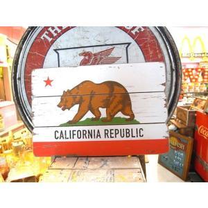 カリフォルニア リパブリック サインボード MDF 看板 CALIFORNIA REPUBLIC アメリカン雑貨|choppers