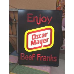 Oscar Mayer オスカーメイヤー ディスプレイサイン ライト 看板 アメリカン雑貨 世田谷ベース|choppers
