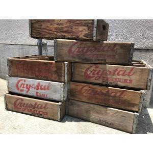 ドリンクボックス CRYSTAL CLUB ヴィンテージ ウッドボックス USED ウッドボックス ウッドクレート DRINKBOX|choppers