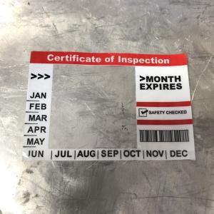 車検 ステッカー インスペクション ステッカー ホワイト レッド 新サイズ INSPECTION STICKER ND|choppers