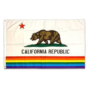 カリフォルニア フラッグ California Flag 州旗 レインボー Rainbow CA L...