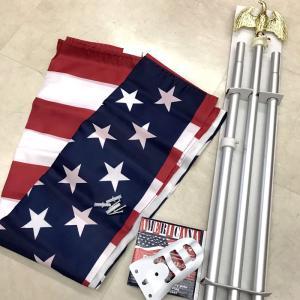 星条旗 ポール ステー アメリカン フラッグキット 家庭用 USA 旗|choppers