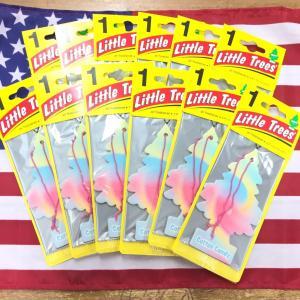 リトルツリー コットンキャンディ 12枚セット Little Trees Cotton Candy エアフレッシュナー choppers