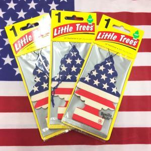 リトルツリー バニラプライド 星条旗 スターズ ストライプス 3枚セット Little Trees Vanilla Pride エアフレッシュナー choppers