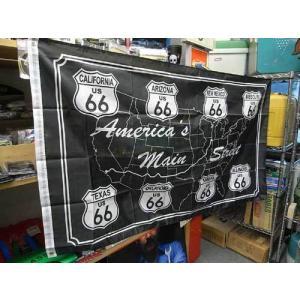 ROUTE66 FLAG 【メインストリート】US輸入品 / ルート66 アメリカ雑貨 アメリカン雑貨 choppers