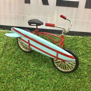 サーファー バイシクル 自転車 サーフィン ヴィンテージ風 ブリキ スタチュー 置物 1610A-8984 アメリカン雑貨 アメ雑 choppers