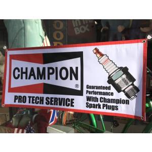 チャンピオン プラグ 大型 バナー タペストリー ノスタルジック CHAMPION ガレージ ディスプレイ アメリカン雑貨 アメ雑 choppers