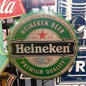 ハイネケン ボトルキャップ サイン Heineken 立体 ブリキ 看板 アメリカン雑貨 アメ雑|choppers
