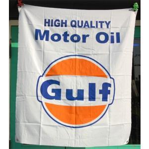 Gulf Motor Oil レーシングフラッグ ガルフ アメリカ雑貨 アメリカン雑貨 choppers