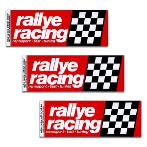 rallye racing ラリーレーシング ステッカー 3枚セット ラリー レーシング アメリカン雑貨 アメ雑|choppers