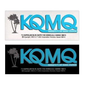 ステッカー ハワイ KQMQ 黒白セット FMラジオ アメリカン雑貨 アメ雑 choppers