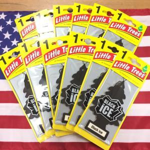 リトルツリー ブラックアイス エアフレッシュナー 12枚セット Black Ice Little Trees 芳香剤 フレグランス choppers