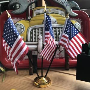 デスクトップ フラッグ 星条旗3本 卓上 アメリカ国旗 アメリカ雑貨 アメリカン雑貨 choppers