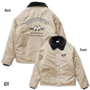 MOONEYES ボア コーチ ジャケット グレー Mサイズ BK057 MOONEYES アメリカン雑貨 アメ雑|choppers