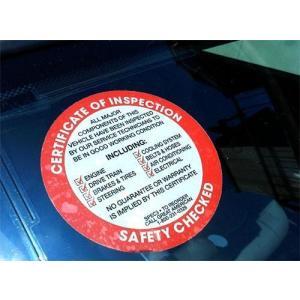アメリカ整備用ステッカー SAFETY CHECKED 裏貼り RD USDM アメリカ雑貨 アメリカン雑貨 choppers
