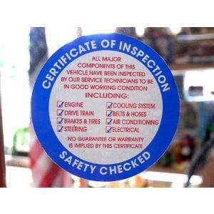 アメリカ整備用ステッカー SAFETY CHECKED 裏貼り BL USDM アメリカ雑貨 アメリカン雑貨|choppers
