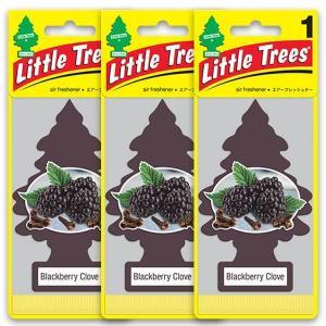 リトルツリー  ブラックベリー エアフレッシュナー 3枚セット Black Berry Little Trees 芳香剤 フレグランス