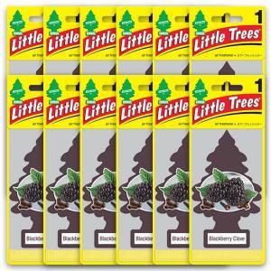 リトルツリー ブラックベリー エアフレッシュナー 12枚セット Black Berry Little Trees 芳香剤 フレグランス