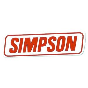 SIMPSON ミニレーシングデカール・ステッカー 世田谷ベース (ms031)|choppers