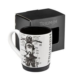Triumph MUG WITH RUBBER BASE マグカップ #MMUS16331|chops-webshop
