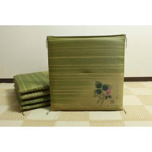 【5枚セット】 い草 座布団 国産 おしゃれ 上品 国産 約55×55cm 日本製 送料無料|choro-aki