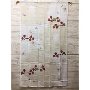 のれん ロング おしゃれ 和風 梅 令和 約85×150|choro-aki