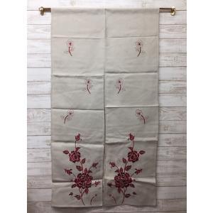 のれん ロング おしゃれ 洋風 刺繍 約85×150 訳あり|choro-aki