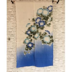暖簾 のれん 間仕切り 洋風 花柄 星 スターおしゃれ 綿 コットン人気 通販  グリーン アイボリー インド 約85×150cm|choro-aki