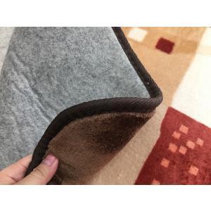 ホットカーペットカバー 3畳 おしゃれ 北欧 ギャベ調 約200×250|choro-aki|04