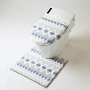 トイレマット セット 2点セット 北欧 おしゃれ 低反発 洗える すべり止め付き|choro-aki