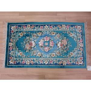 玄関マット シルク 手織り 緞通 織物 絹 輸入 上品 高級玄関マット マット choro-aki