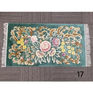 送料無料 玄関マット マット シルク 緞通 手織り 輸入 絹 おしゃれ 上品 (17) choro-aki