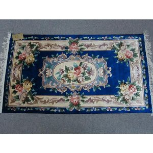 玄関マット 高級玄関マット マット シルク 手織り 緞通 織物 紺 ネイビー 絹 人気 choro-aki