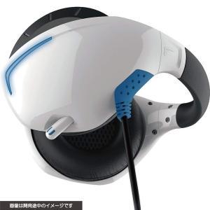 【新品】PSVR マイク付きバックバンドヘッドホン(ホワイト×ブルー)<サイバーガジェット> chouchou-place