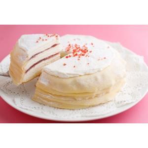 ハロウィン プレゼント ギフト お菓子 スイーツ 2019 誕生日ケーキ ケーキ ミルクレープ 内祝い 手作りミルクレープ ストロベリー 1ホール|chouchoucrepe-gift