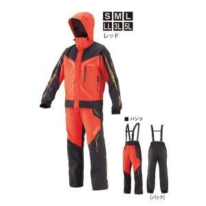 がまかつ GM-3611 ゴアテックス オールウェザースーツ LL レッド / 防寒ウェア 上下 セットアップの商品画像|ナビ