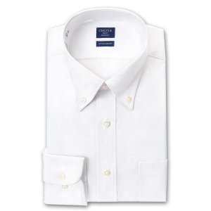 ワイシャツ Yシャツ メンズ 長袖 | CHOYA SHIRT FACTORY | 形態安定 白ブロード ボタンダウンシャツ おしゃれ|choyashirts