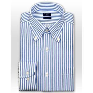 ワイシャツ Yシャツ メンズ 長袖   CHOYA SHIRT FACTORY   綿100% 形態安定加工 ロンドンストライプ ボタンダウン おしゃれ choyashirts 02