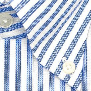 ワイシャツ Yシャツ メンズ 長袖   CHOYA SHIRT FACTORY   綿100% 形態安定加工 ロンドンストライプ ボタンダウン おしゃれ choyashirts 03