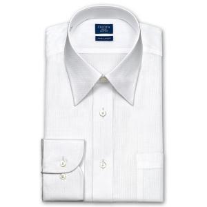 ワイシャツ Yシャツ メンズ 長袖 | CHOYA SHIRT FACTORY | 綿100% 形態安定加工 白ドビーストライプ レギュラーカラー おしゃれ|choyashirts