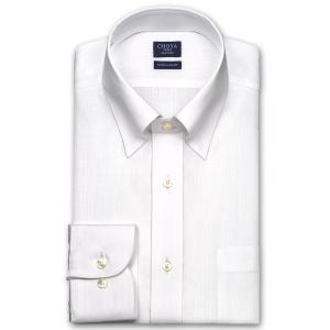 ワイシャツ Yシャツ メンズ 長袖 | CHOYA SHIRT FACTORY | 綿100% 形態安定加工 白ドビーストライプ スナップダウンシャツ おしゃれ|choyashirts