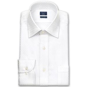ワイシャツ Yシャツ メンズ 長袖 | CHOYA SHIRT FACTORY | 白ドビーのブロックチェック ワイドカラーシャツ おしゃれ|choyashirts