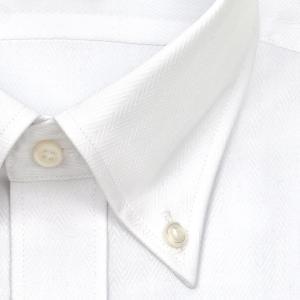 ワイシャツ Yシャツ メンズ 長袖   CHOYA SHIRT FACTORY   ヘリンボーン ボタンダウンシャツ おしゃれ 父の日 プレゼント ギフト 父親 お父さん choyashirts 03