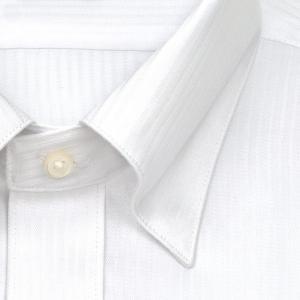 ワイシャツ Yシャツ メンズ 長袖   CHOYA SHIRT FACTORY   白ドビーストライプ スナップダウンシャツ おしゃれ choyashirts 03