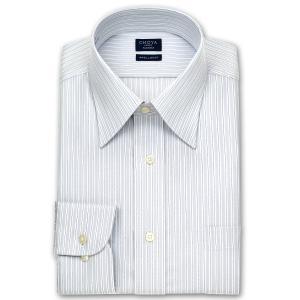 ワイシャツ Yシャツ メンズ 長袖 | CHOYA SHIRT FACTORY | グレーストライプ レギュラーカラーシャツ おしゃれ|choyashirts