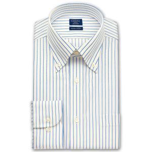ワイシャツ Yシャツ メンズ 長袖 | CHOYA SHIRT FACTORY | オルタネイトストライプ ボタンダウンシャツ おしゃれ|choyashirts