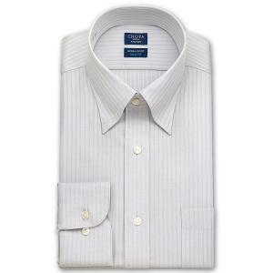 ワイシャツ Yシャツ メンズ 長袖 | CHOYA SHIRT FACTORY スリムフィット | グレードビーストライプ スナップダウンシャツ|choyashirts