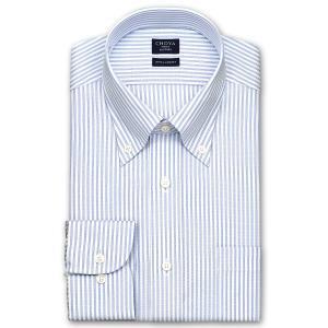 ワイシャツ Yシャツ メンズ 長袖 | CHOYA SHIRT FACTORY | COOL CONSCIOUS 綿100% 形態安定加工 ロンドンストライプ ボタンダウン おしゃれ|choyashirts
